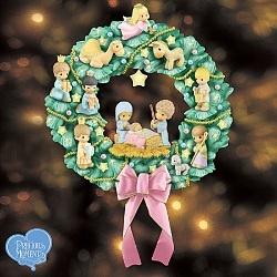Precious Moments Nativity Wreath