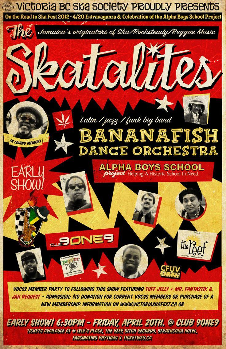 old vintage reggae posters | Ska Flyers