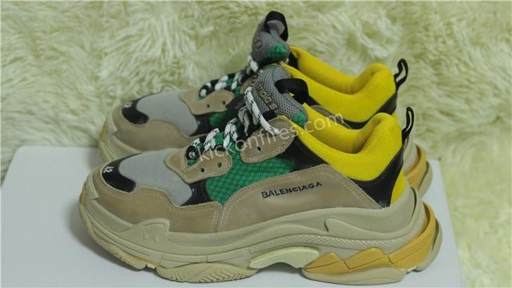 6fba4ae220e6b Balenciaga Triple s Beige Green Yellow at kickonfires.com ...