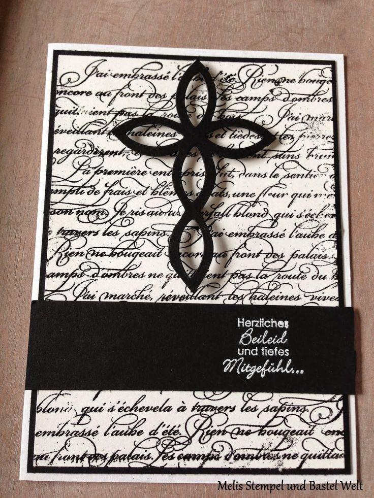 Stampin Up Trauerkarte, En France, Elegantes Gitter, ein duftes Dutzend
