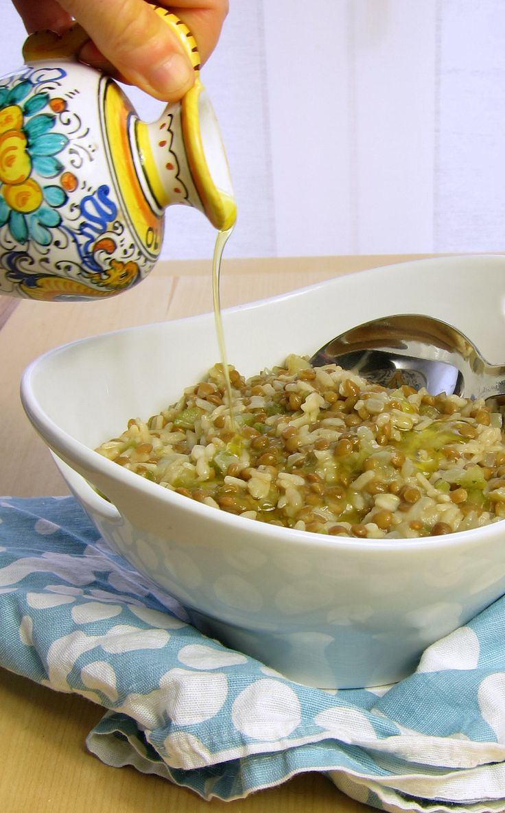 RISOTTO turns into a nutritious one pot meal: Lentil Risotto Pressure cooker recipe:
