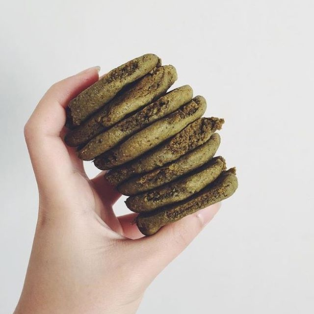"""@eatwithintention, clever cookie you are with these delicious cookies! """"#mixnmatcha chickpea cookies"""" SO GOOD!"""