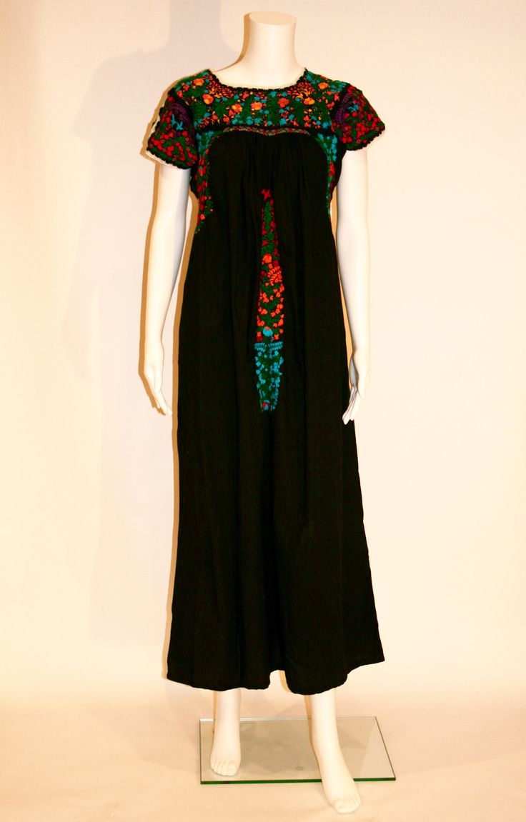 Black Embroidered Mexican Wedding Dress