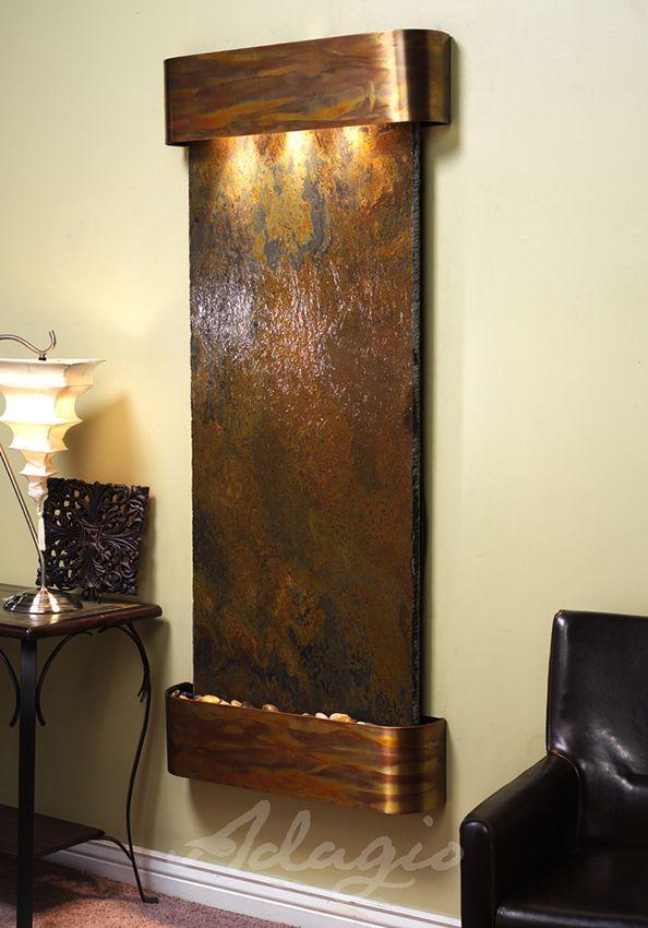 adagio inspiration falls wall fountain - Slate Wall Fountains Indoor