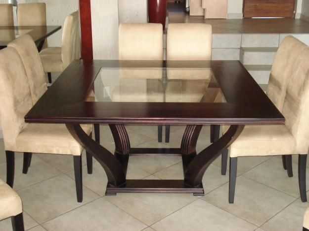 Square Dining Table For 8 Efistu Com In 2020 Square Dining