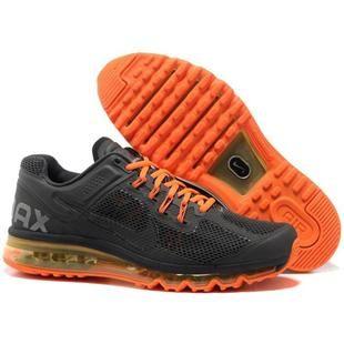 http://www.asneakers4u.com/ NIKE AIR MAX 2013 cheap mens running shoes gray orange