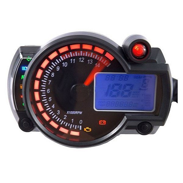 Adjustable Motorcycle Digital Speedometer LCD Digital Odometer. Adjustable Motorcycle Digital Speedometer Lcd Digital Odometer    description:  easy Install, We Provide Install Manual. You Can Also Click Into This Link To Read The English Manual  stepper Motor Pointer: Tacho  lcd Display: Speed, Odometer, Trip, Meter ,gear Position, Fuel Level And Real-time Clock.  button Controlled Shift Between Odometer And Trip Meter, Km/h And Mp/h, And Trip Meter Resetting Is Also Available.  it Can Be…