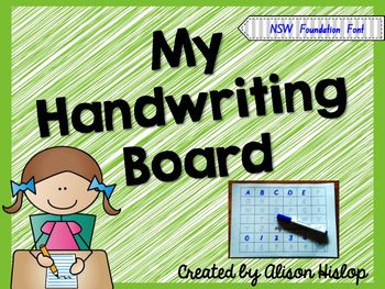 Print back to back and laminate for children to practise writing their letters and numbers using a whiteboard maker.  Alison Hislop 2016Permission for Single Classroom Use Only