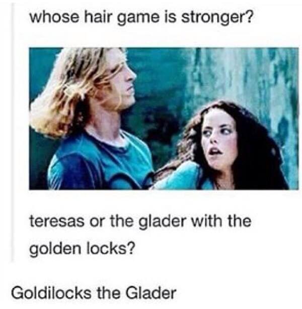 Goldilocks....yup my favorite glader for sure>>>>> lol