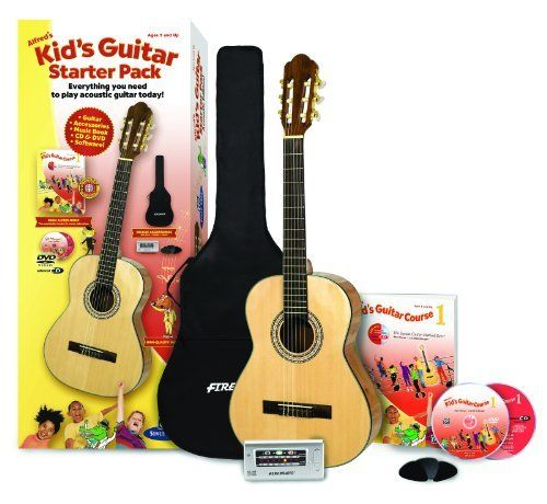 Alfred's Kid's Guitar Course, Complete Starter Pack: Everything You Need to Play Today!, http://www.amazon.com/dp/0739079883/ref=cm_sw_r_pi_awdm_H4XbxbPF0X57G
