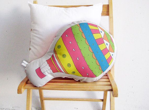 Stuffed toy Colorful balloon soft toy by PrintsByStellaChili
