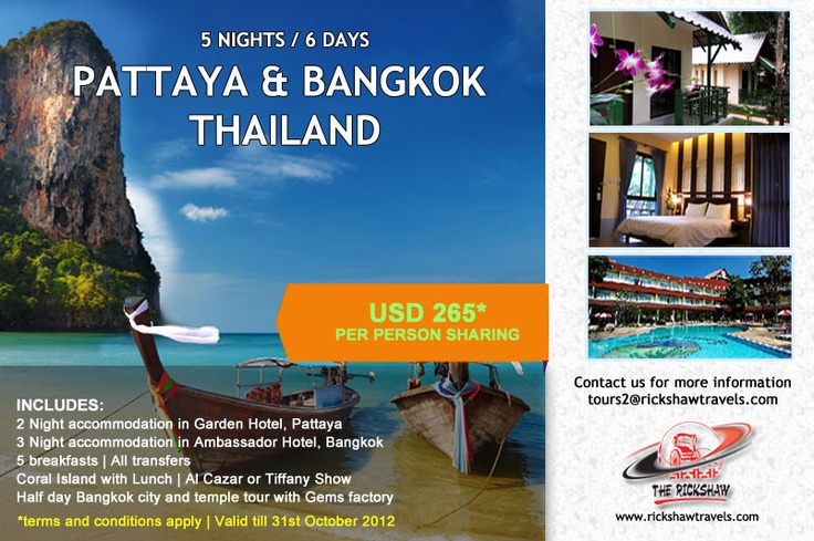 Sun, Sea & Shopping: Thailand on Offer Now! Bangkok & Pattaya 6-Day Package Deal for only $265 pp sharing | Rickshaw Travels