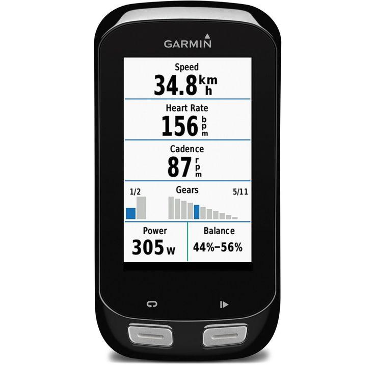 Con una generosa pantalla, muy visible, el Garmin EDGE 1000 es el tope de gama en cuanto a ciclocomputadores: su pantalla está optimizada para usar con guantes,