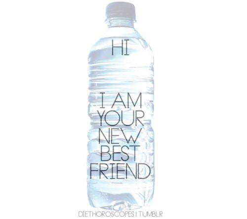 water...not soda....