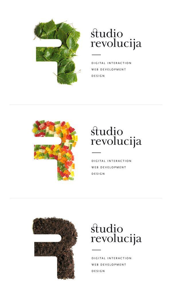 Studio Revolucija identity by Vladimir Koncar, via Behance