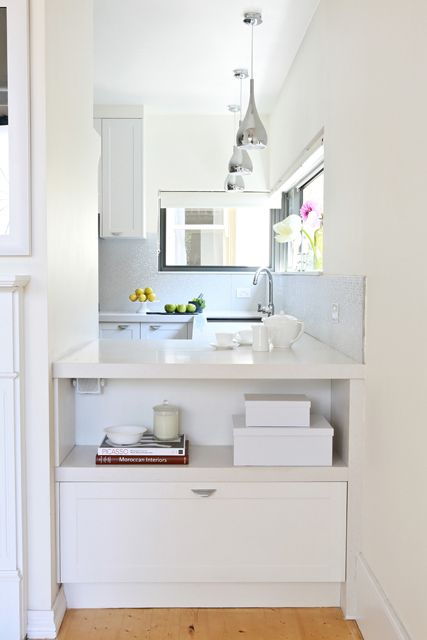 Cupboard/ drawer + shelf at end of bench space   Freedom Kitchens - Kitchen Photo Gallery