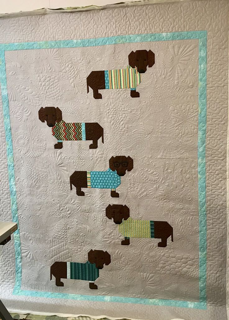 Dogs In Sweaters Quilt Pattern Free