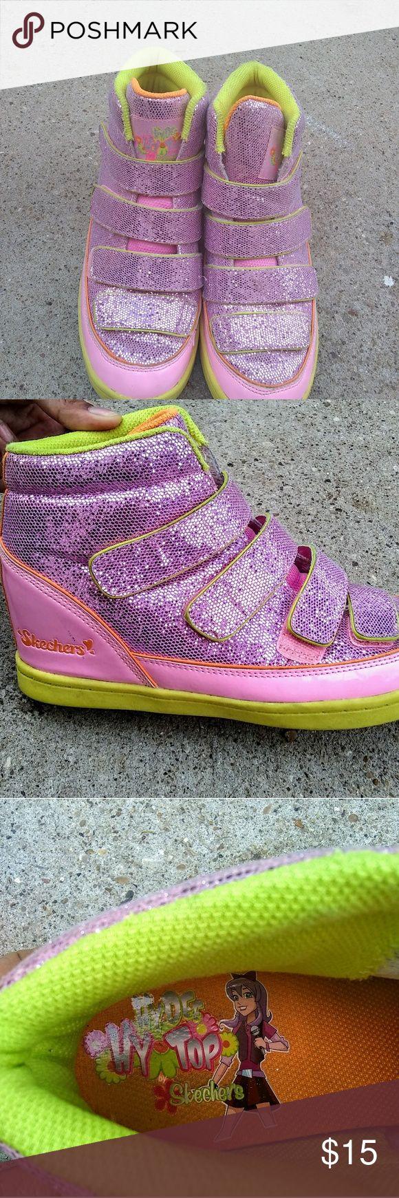 Sketchers hytop shoes Pretty girls hytop wedge sneakers Skechers Shoes Sneakers