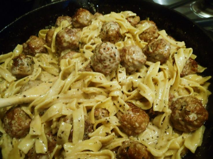 Meatballs Stroganoff ~ popular recipe  with over 164,000 people enjoying! Fast, easy, delicious...for busy moms...get dinner on the table after work in 30 minutes! Step-by-step photo tutorial....try baking the frozen meatballs and sub in FF sour cream and FF half & half to cut fat grams....server over Brown Rice & Wild Rice or mashed potatoes for GF alternative.