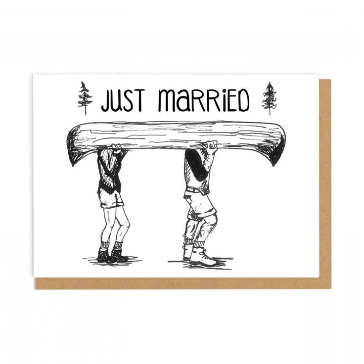 Pilar Prints Just Married Card