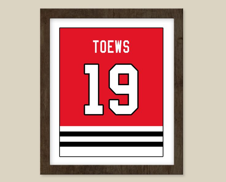 Johnathan Toews Jersey 8x10 print - Chicago Blackhawks Jersey -  Customizable & Excellent present.