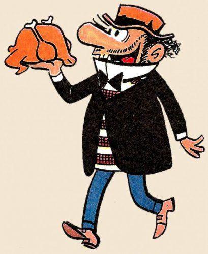 Carpanta,  personaje creado por Escobar, que apareció por primera vez en la revista Pulgarcito en 1947.