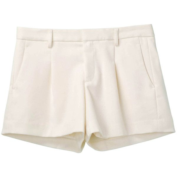 Women Wool Blended Flare Shorts ($48) ❤ liked on Polyvore