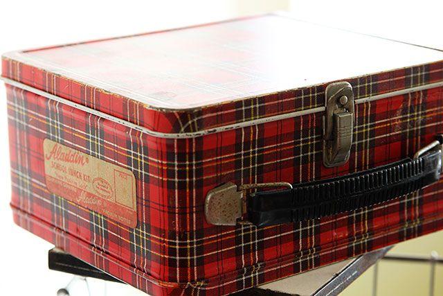 Vintage plaid Aladdin lunch box