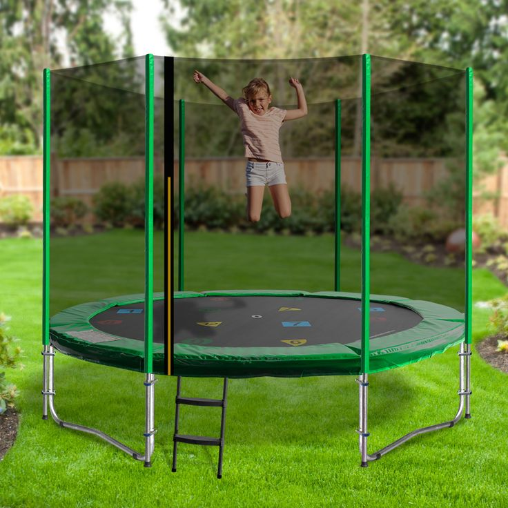 Vintage Oz Trampolines ft Round Trampoline in Green a great fun trampoline for little jumpers