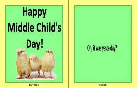 August 12 – National Middle Child Day