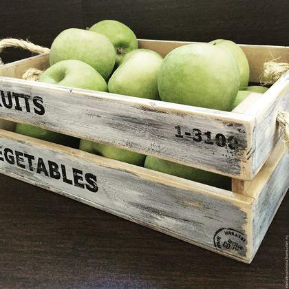 Кухня ручной работы. Заказать Ящик для фруктов/овощей. Елена Кручинина. Ярмарка Мастеров. Ящик из дерева, дерево сосна