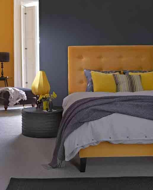 Yellow And Grey Bedroom Themes: Pinterest