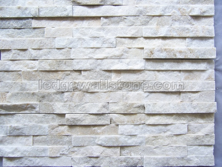 White Quartzite Stack Stone Wall Cladding Panels