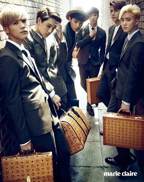 EXO Marie Claire Korea October 2014 Look 8