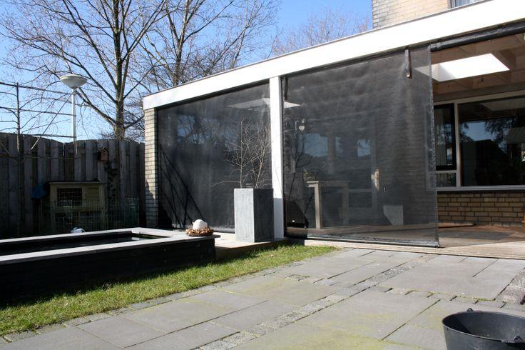 1000 images about wegwind onder overkapping on pinterest garage met and koken - Terras beschut ...