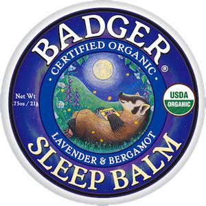 Badger's Sleep Balm contains essential oils which help to calm thoughts and clear the mind, allowing sleep to come naturally. There are no drugs or narcotics in this product, which means no side-effects to worry about. It is completely safe and natural, and thanks to its portable tin, it also makes an ideal travelling companion!   This balm is perfect for those nights when you just can't seem to stop the mind chatter!