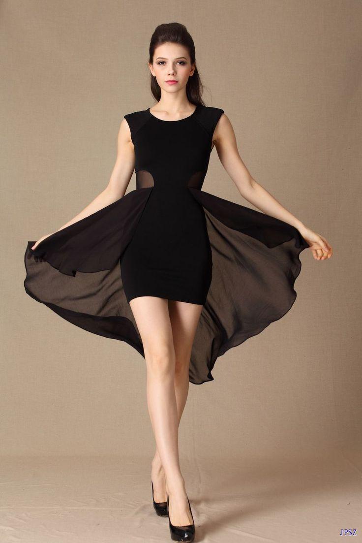 vestidos de fiesta cortos 2016 | Solo los más bellos modelos de Vestido de gasa corto adelante y largo ...
