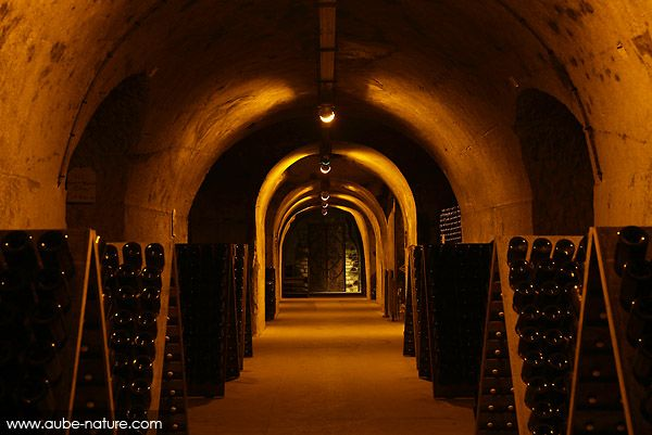 The clay caves at Taittinger Champagne in Reims France