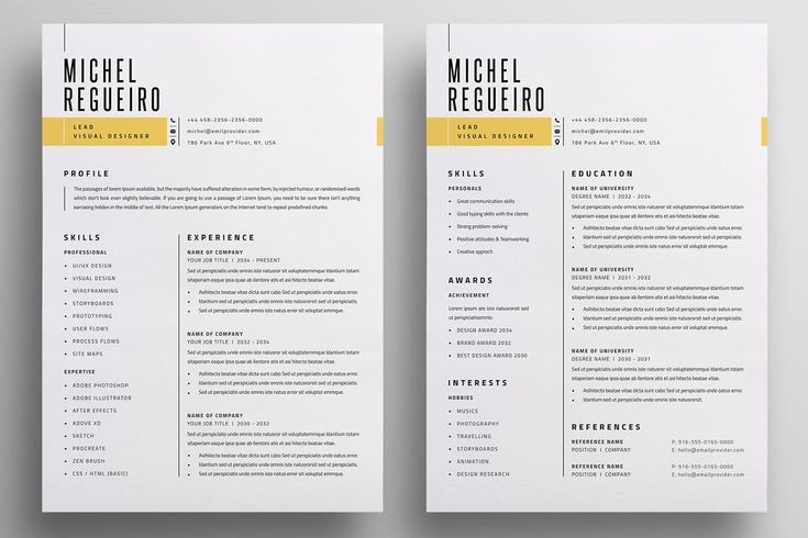 Resume Template Cv Template Professional And Creative Resume Design Cover Letter For Ms Word In 2020 Resume Templates Letterhead Design Resume Cv