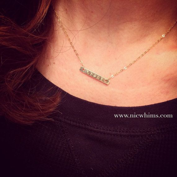 Armenian Name Bar Necklace by NicWhims on Etsy