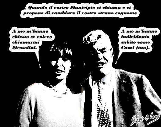 """Se un cognome non va più di moda va cambiato? Alessandra Mussolini: """"Il Comune mi ha chiamato per chiedermi di cambiare cognome in Massolini. Querelo Raggi o Reggi o Ruggi"""". Un funzionario avrebbe telefonato all'europarlamentare per offrire il c #alessandramussolini #cambiodicognome"""
