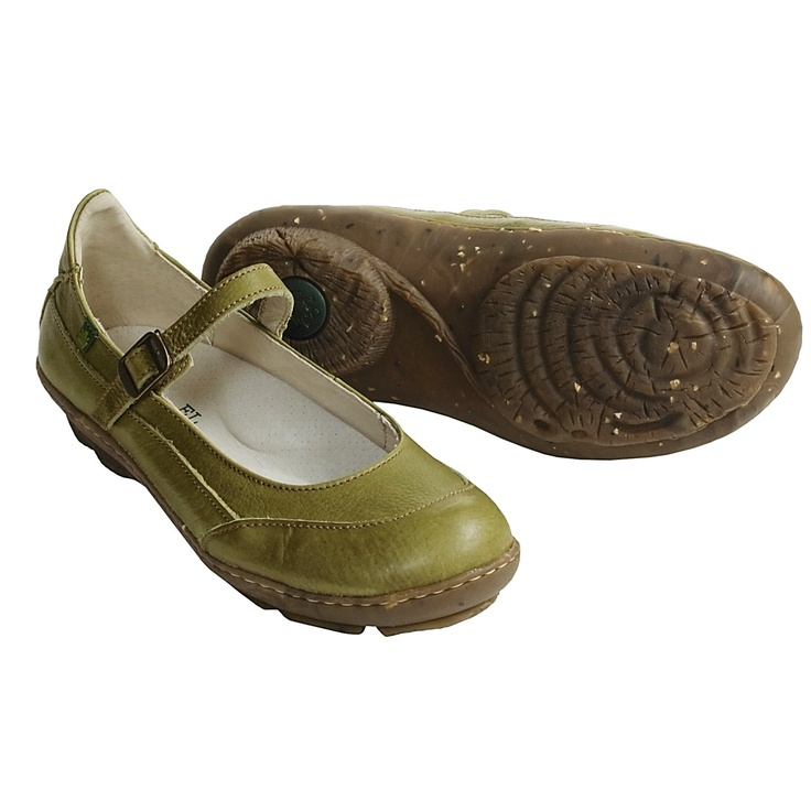 El Naturalista Ginkgo Shoes - Mary Janes (For Women) in Musgo