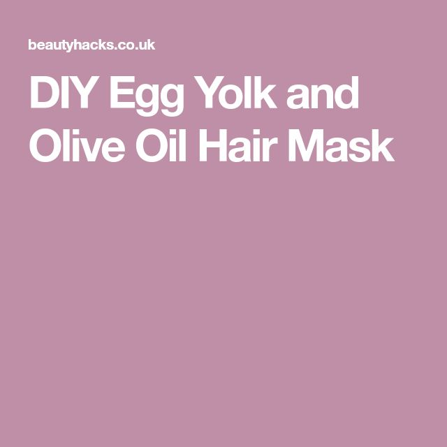 DIY Egg Yolk and Olive Oil Hair Mask