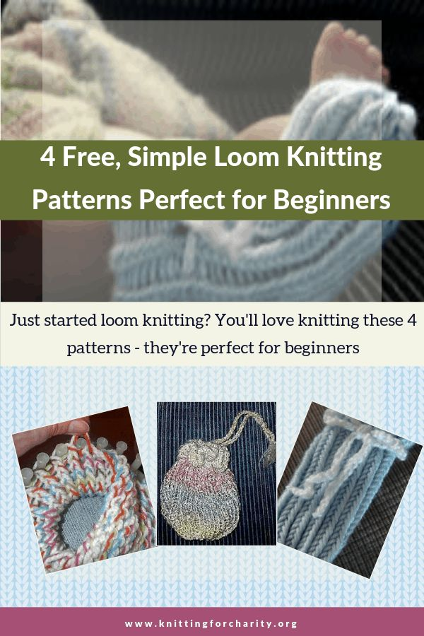 4 Free, Simple Loom Knitting Patterns Perfect for ...