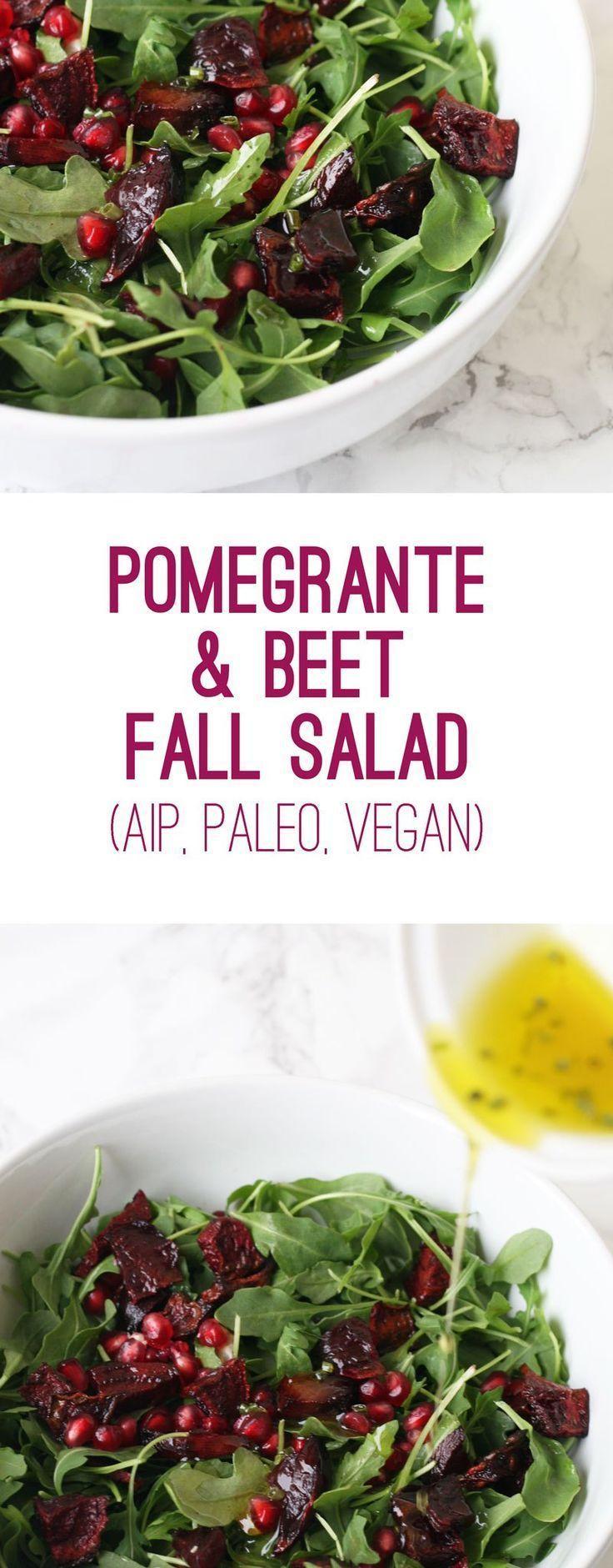 Pomegranate Beet Fall Salad (AIP, Paleo, Vegan)
