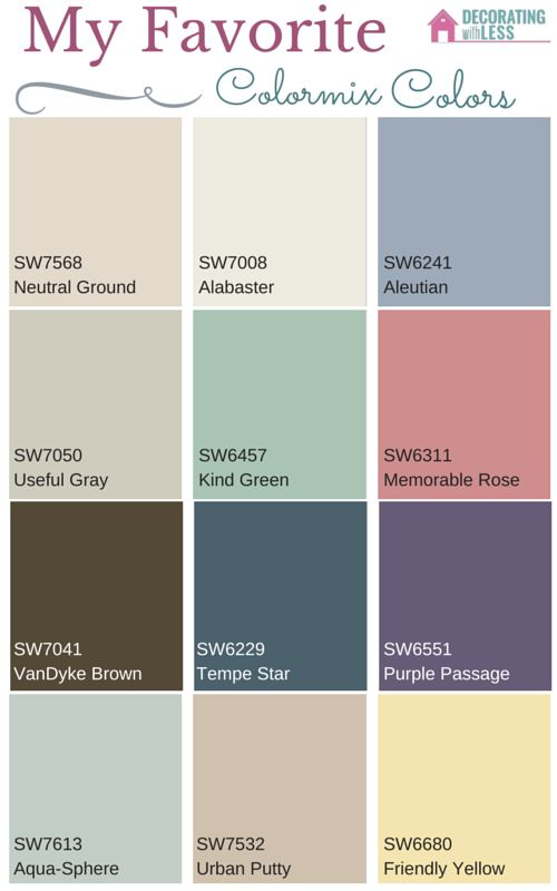 My favorite paint colors from sherwin williams colormix 2016 paint colors favorite paint Great paint colors