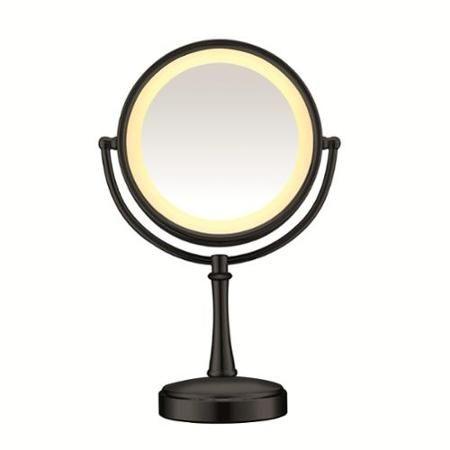 "Conair Touch Control Lighted Mirror - Matte Black - Round8.50"" Diameter - Matte Black (be87mb) - Walmart.com"