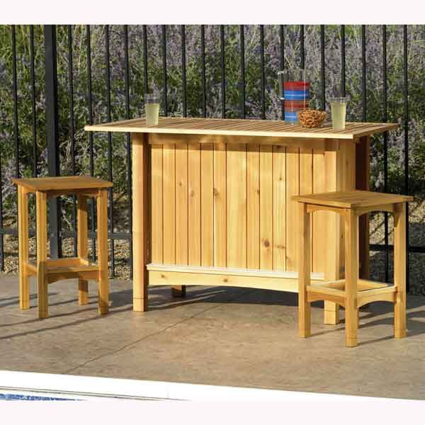 Woodworking plans outdoor bar plans to build wooden shed for Wooden bar design