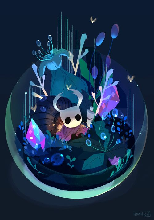 Hollow Knight fan art illustration for Indie G Zine by abbydraws, via tumblr