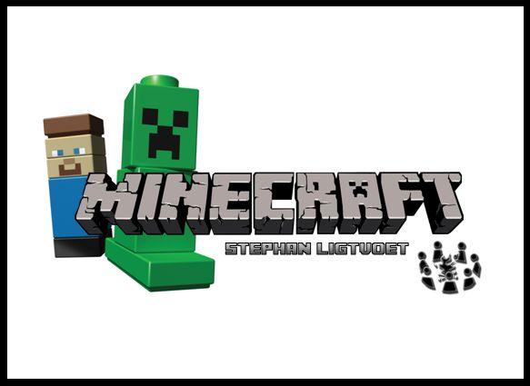 Minecraft. De kinderen rennen door het bos om grondstoffen te verzamelen. Met de verdiende grondstoffen kunnen ze hun eigen minecraft-wereld bouwen. Net zo als in de game wordt de wereld opgebouwd uit vierkanten blokjes (lego, Qbricks)